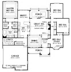 one story open floor plans with 4 bedrooms generous one story design with open common area - Open Floor House Plans One Story
