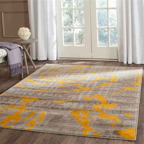 safavieh porcello grey rug safavieh porcello light grey yellow 6 ft x 9 ft area rug