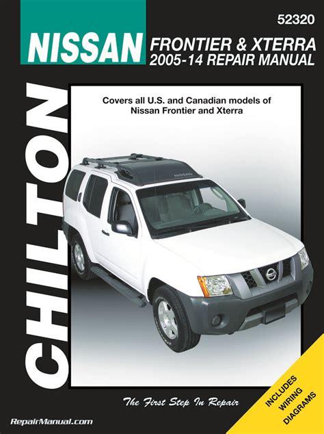 car repair manuals online free 2006 nissan xterra electronic valve timing chilton nissan frontier xterra 2005 2014 repair manual