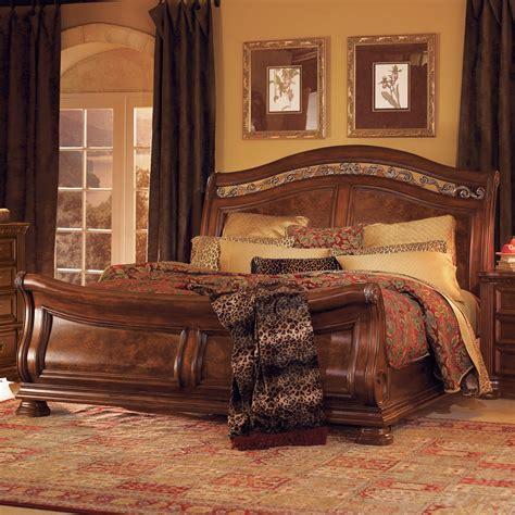 granada sleigh bed set at hayneedle