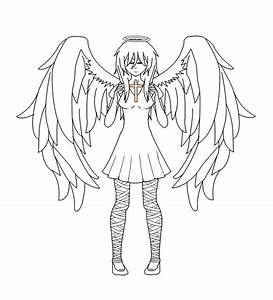 Best Photos of Anime Girl Outline Template - Anime Girl ...