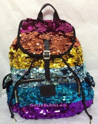 sparkly backpack  pink wont   school
