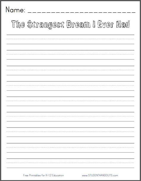 writing templates for 3rd grade 6 best images of free printable writing prompts free printable writing prompt worksheets free