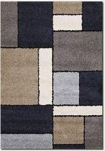 Moonwalk stonewall 4040 0001 dark blue rug from the for Modern carpets and rugs texture