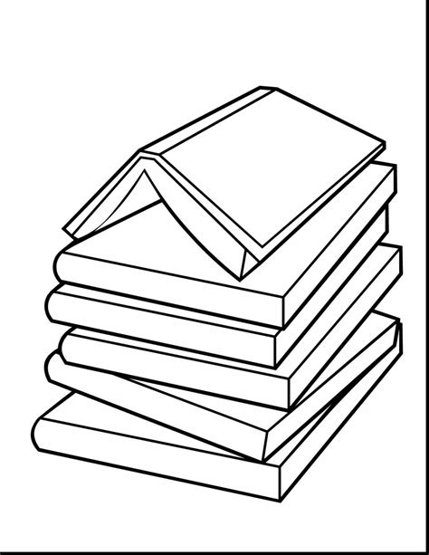 Book Stack Drawing at GetDrawings.com   Free for personal