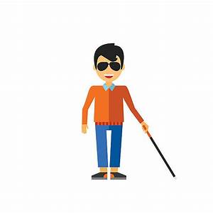 Blind Person Clipart - ClipartXtras