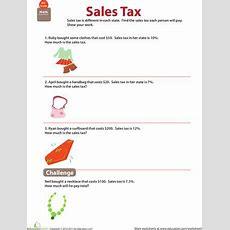 Money Math Solve Sales Tax Word Problems  Math  Math Worksheets, Math, 7th Grade Math