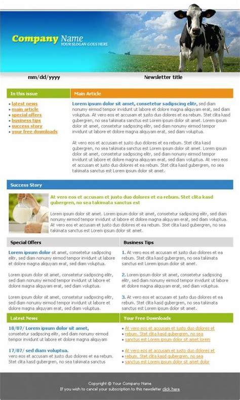 agriculture company newsletter template templatesboxcom
