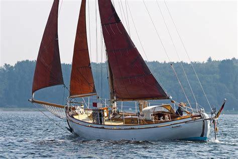 danish classic wooden double ender sail boat  sale wwwyachtworldcom