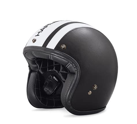 Harley Davidson Helmets by 98140 18ex Harley Davidson Leather Covered Retro 3 4