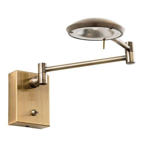 endon orton brass reading light led wall light
