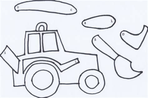 tractor template to print make a movable tractor free printable wildflower ramblings