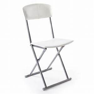 chaise pliante boyeros blanche With meuble salle À manger avec chaise salle a manger simili cuir marron