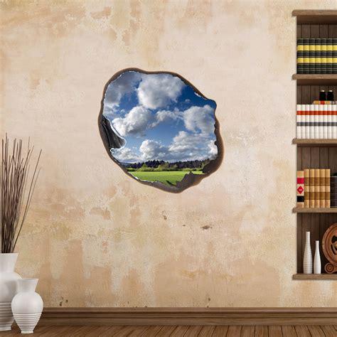 sticker muraux trompe loeil sticker mural nuages dans