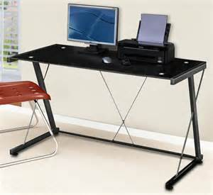 desks computer desk modern metal tube tempered glass