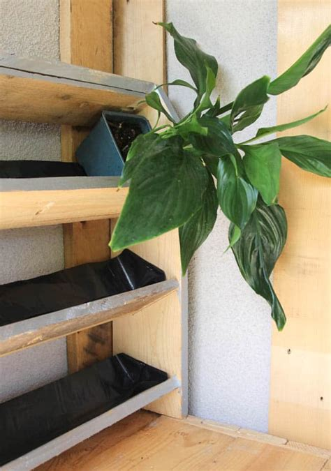 cabinet trash diy tropical pallet living wall a of rainbow
