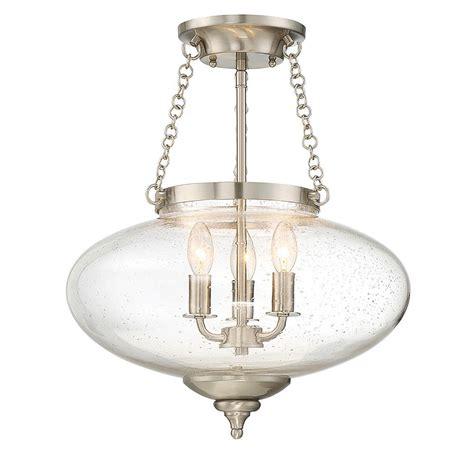 semi flush mount lights filament design 3 light satin nickel semi flushmount cli