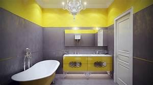 Salle De Bain Jaune Et Gris. salle de bains jaunes 32 id es pour une ...