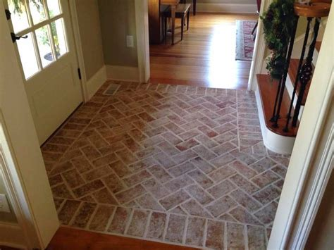 best 25 brick tile floor ideas on brick floor