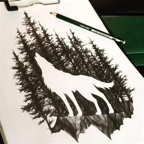 wolf tattoos ideas  pinterest tree tattoo