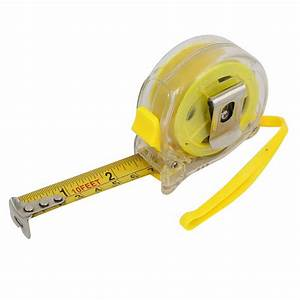 10ft Plastic Case Imperial And Metric Measuring Tape