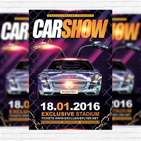 Car Wallpapers Free Psd Flyer Template by Car Show Premium Flyer Template Cover