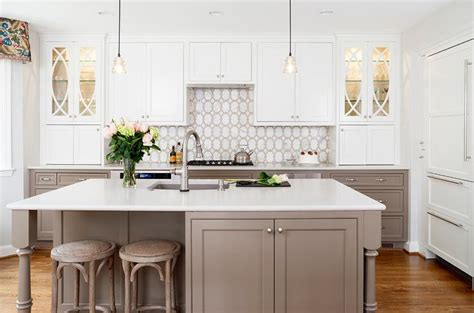 taupe kitchen cabinets white kitchen cabinets with taupe lower kitchen