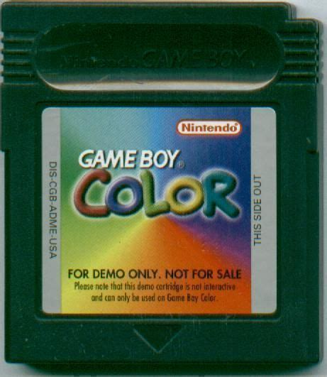 gameboy color rom gameboy color promotional demo rom gameboy color gbc
