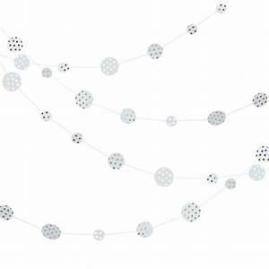 Guirlande Lumineuse Blanche : decoration de salle guirlande confettis blanche pois or ~ Melissatoandfro.com Idées de Décoration