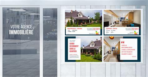 un kit complet d affiches vitrine 224 t 233 l 233 charger et personnaliser pour votre vitrine d agence