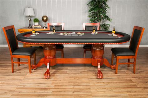 round poker table with dining the rockwell high end furniture poker table with dining