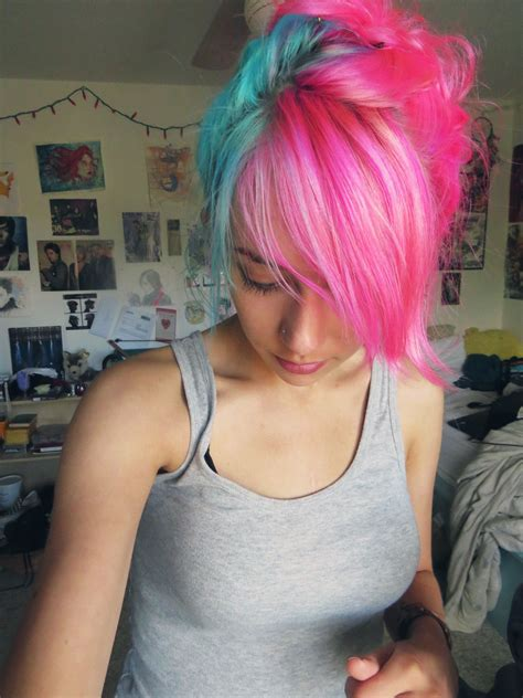 Best 25 Blue And Pink Hair Ideas On Pinterest Pink