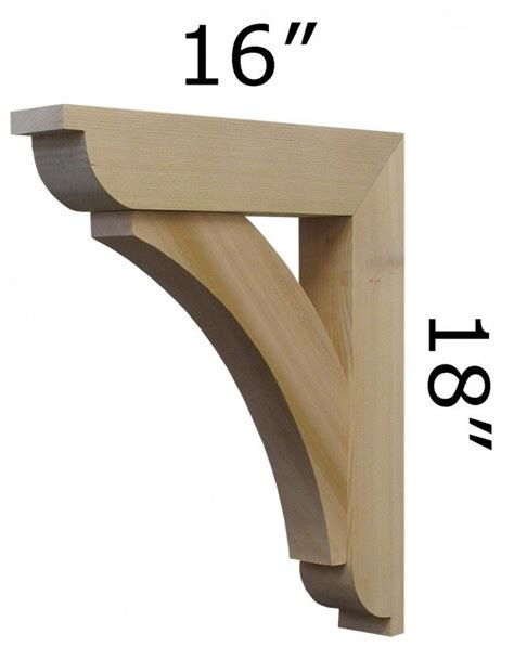 Wooden Corbels And Brackets by Wood Bracket 06t5 Exteriors In 2019 Wood Brackets