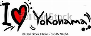 Clipart Vector of Love Yokohama Creative design of love