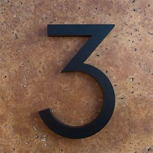 Modern house numbers and letters for Black house letters