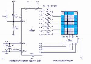 Interfacing Dot Matrix Led Display To 8051