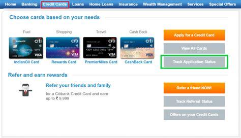 citibank credit card application status   track