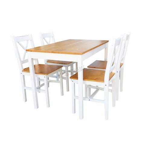 sur la table westwood westwood quality solid wooden dining table and 4 chairs