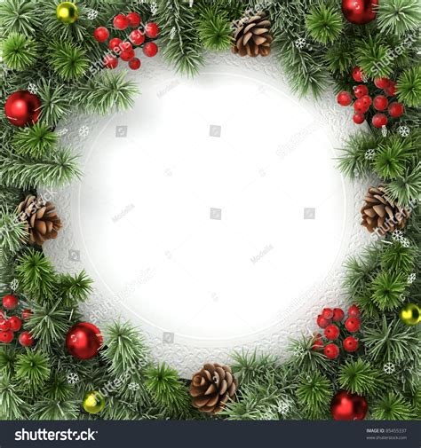 christmas wreath border festival collections