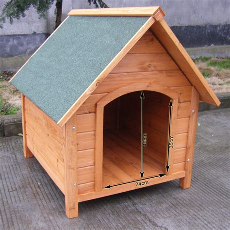 weather proof pet puppy wooden kennel house indoor outdoor animal shelter