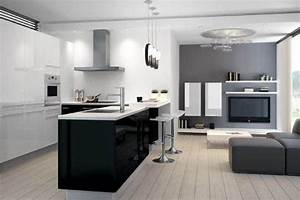 amenager une cuisine ouverte sur le salon astuces et With amenager cuisine ouverte sur salon
