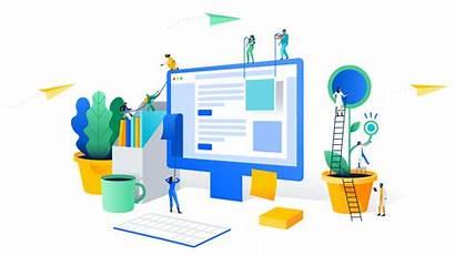 Management Systems Cartoon Desktop Koncept Computer Homepage