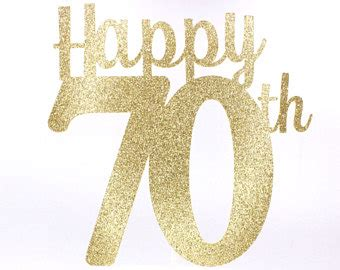 large 70th birthday anniversary number glitter 70th etsy
