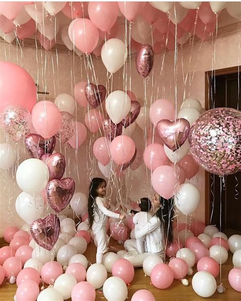 pink and white balloon decorations mzcocogirl c e l e b r a t i o n in 2019