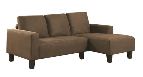Contemporary Microfiber Sectional Sofa by Sothell Contemporary Brown Microfiber Sectional Sofa With