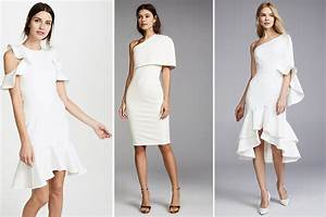 where to find a white rehearsal dinner dress in winter With white wedding rehearsal dress
