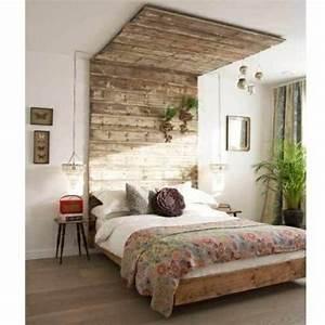 recup palettes 34 chambres a coucher la tete de lit palette With idee deco cuisine avec lit en bois