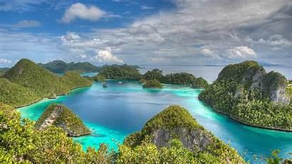 Indonesia Raja Ampat Islands Wallpapers Clouds Socio