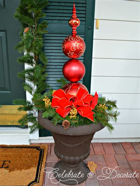 diy christmas ornament topiary celebrate decorate