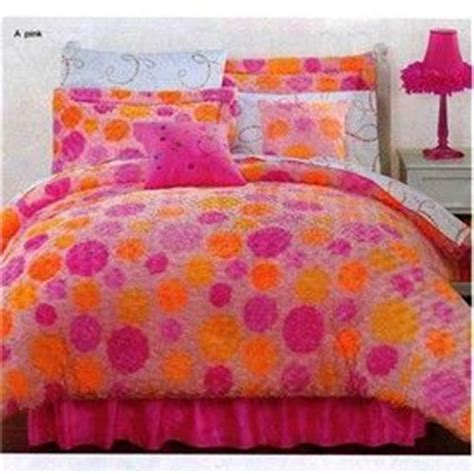 pink and orange polka dots comforter set for the home